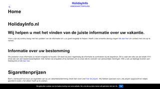 holidayinfo.nl