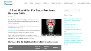 qualityhomeaircare.com/best-humidifier-for-sinus-problems/