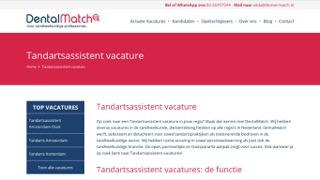 www.dental-match.nl/tandartsassistent-vacature/