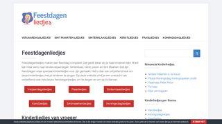 www.feestdagen-liedjes.nl