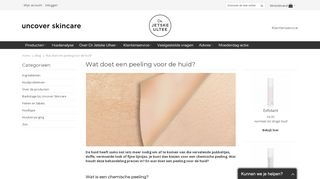 www.uncover-skincare.nl/product-advies/doet-peeling-huid